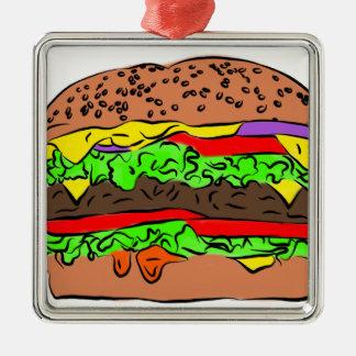 Ornamento De Metal Cheeseburger