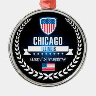Ornamento De Metal Chicago