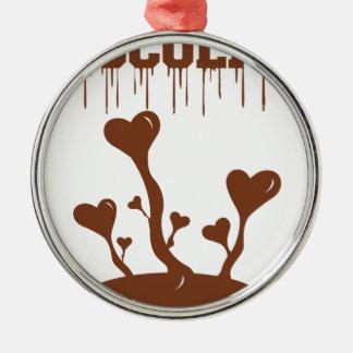 Ornamento De Metal Chocolate