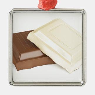 Ornamento De Metal Chocolate branco e marrom