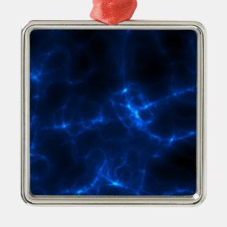 Ornamento De Metal Choque eléctrico em azul escuro