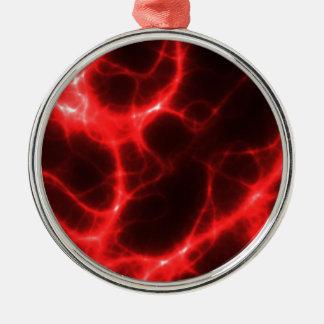 Ornamento De Metal Choque eléctrico no vermelho