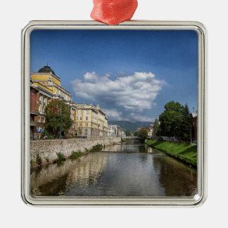 Ornamento De Metal Cidade de Sarajevo, capital de Bósnia e