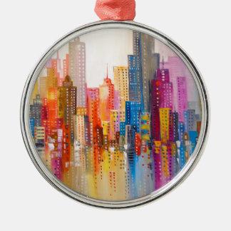 Ornamento De Metal Cidade do arco-íris