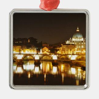 Ornamento De Metal Cidade do Vaticano, Roma, Italia na noite