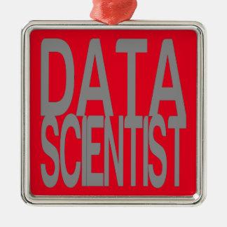 Ornamento De Metal Cientista dos dados no texto de prata alto