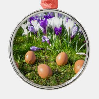 Ornamento De Metal Cinco ovos fracos que encontram-se perto dos