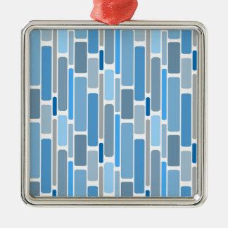 Ornamento De Metal Cinza azul dos blocos retros