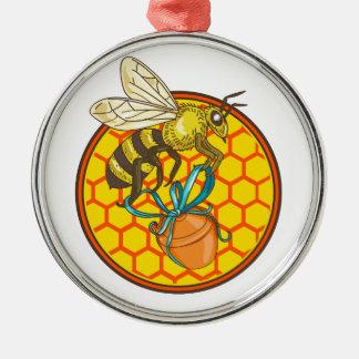 Ornamento De Metal Círculo da colmeia do pote do mel do carregando do