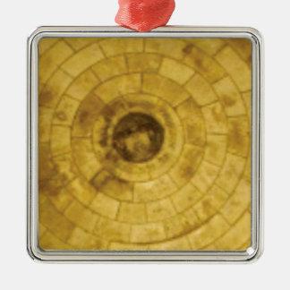 Ornamento De Metal círculos de pedra amarelos
