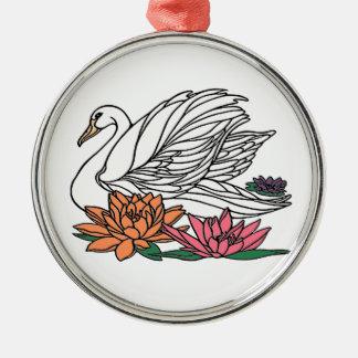 Ornamento De Metal Cisne 2