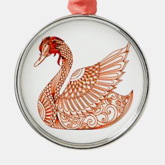 Ornamento De Metal Cisne 3