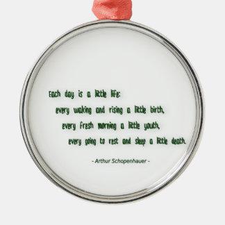 Ornamento De Metal Citações da manhã por Arthur Schopenhauer