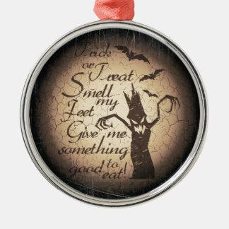 Ornamento De Metal citações do Dia das Bruxas