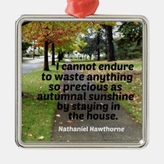 Ornamento De Metal Citações por Hawthorne: Eu não posso resistir para