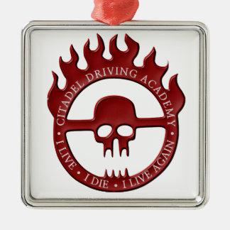 Ornamento De Metal Citadela que conduz a academia - vermelho