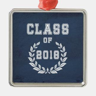 Ornamento De Metal Classe de 2018