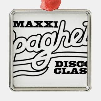 ORNAMENTO DE METAL CLÁSSICOS DO DISCO DOS ESPAGUETES DO DJ MAXXI