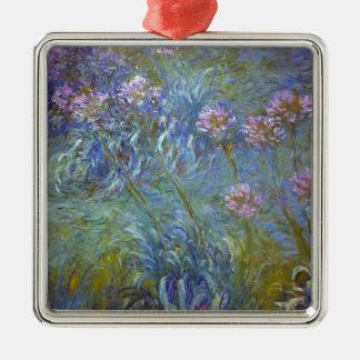 Ornamento De Metal Claude Monet - pintura clássica das flores do