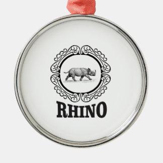 Ornamento De Metal clube do rinoceronte