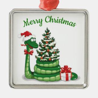 Ornamento De Metal Cobra do Natal