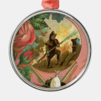 Ornamento De Metal Cobrir do sapador-bombeiro do bombeiro dos 1880's