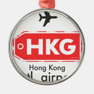 Ornamento De Metal Código do aeroporto de Hong Kong HKG