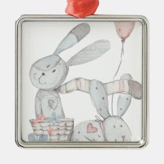 Ornamento De Metal coelhos