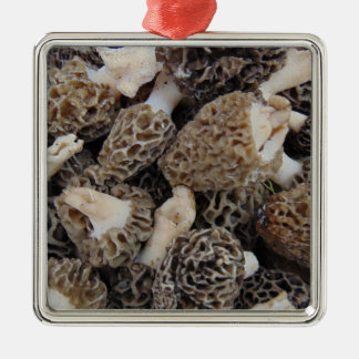 Ornamento De Metal Cogumelos do Morel