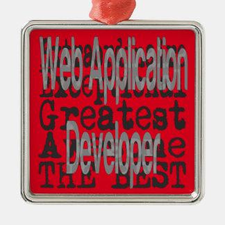 Ornamento De Metal Colaborador de aplicação web Extraordinaire