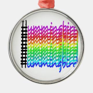 Ornamento De Metal Colibri colorido