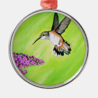 Ornamento De Metal Colibri e Lilac