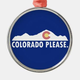 Ornamento De Metal Colorado por favor