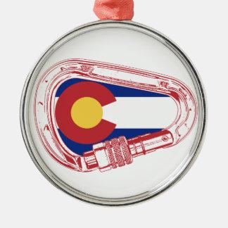Ornamento De Metal Colorado que escala Carabiner