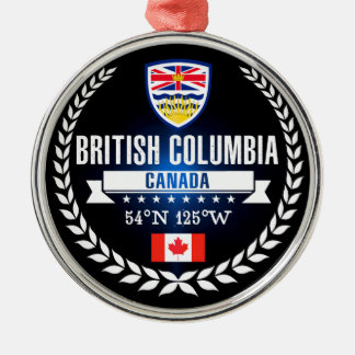 Ornamento De Metal Columbia Britânica