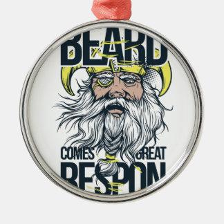 Ornamento De Metal com grande barba vem a grande responsabilidade