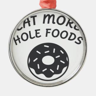 Ornamento De Metal Coma mais alimentos do furo