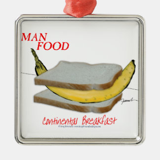 Ornamento De Metal Comida do homem de Tony Fernandes - almoço