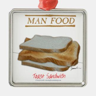 Ornamento De Metal Comida do homem de Tony Fernandes - sanduíche do