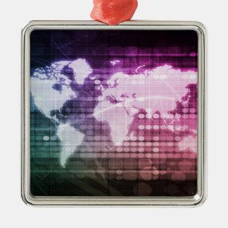 Ornamento De Metal Conexão de rede global e sistema integrado