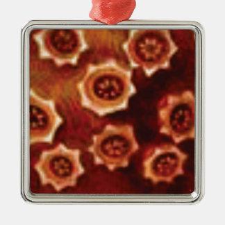 Ornamento De Metal conjunto de flor vermelho