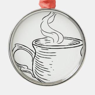 Ornamento De Metal Copo do estilo gravado retro do vintage do chá ou