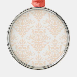 Ornamento De Metal Cor damasco elegante cor-de-rosa e branca coral