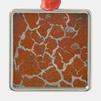 Ornamento De Metal Cor velha de russet no concreto