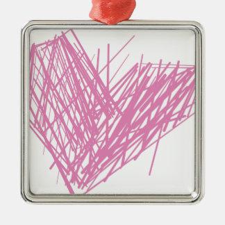 Ornamento De Metal Coração