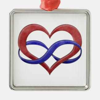 Ornamento De Metal Coração da infinidade do orgulho de Polyamory