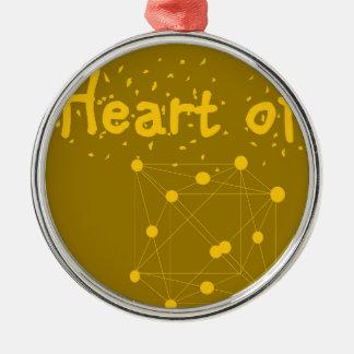Ornamento De Metal coração de ouro