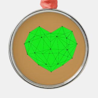 Ornamento De Metal Coração geométrico