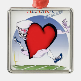 Ornamento De Metal coração principal de Alaska, fernandes tony