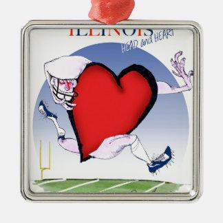 Ornamento De Metal coração principal de illinois, fernandes tony